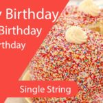 Easy Happy Birthday Guitar Tabs - Single String