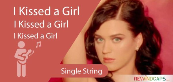Easy Katy Perry I Kissed a Girl Guitar Tabs