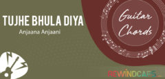 Tujhe Bhula Diya Guitar Chords with Strumming Pattern & with or without Capo